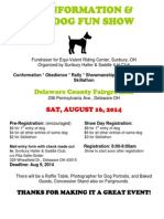 Dogs Show Registration Form