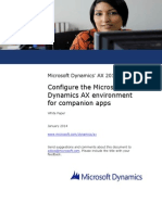 Configure the Microsoft Dynamics AX Environment for Companion Apps
