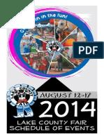 2014 Lake Co. Fair Event List