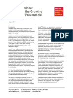 DPA Fact Sheet Opioid Overdose-Addressing National Problem Preventable Deaths August2014