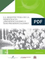 LECTURA 1. La Arquitectura de La Democracia Presidencialismo o Semi Presidencialismo - Garrido
