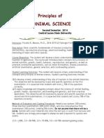 Principles of Animal Science Syllabus