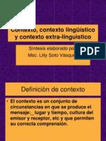 Contexto Linguístico y Extra Linguístico