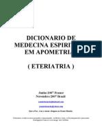 Apometria (Portugues)Dicionario de Medicina Espiritual Segunda Edicao
