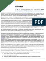 92% de los bancos Top 25 en América Latina usan soluciones SAP