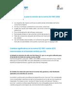 Cambios Relevantes Según El Borrador de La Norma ISO 9001-2015