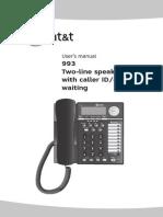 993_manual Att&t Phone