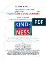 Secret Acts of Care & Kindness