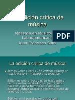El Establecimiento Del Texto Musical