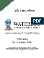 my individual professional development plan