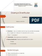Doença Diverticular - Revisao