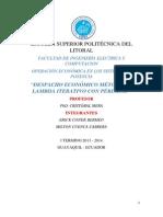 Despacho Económico Lambda Iterativo