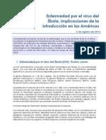 Enfermedad por el virus del Ébola, implicaciones de la introducción en las Américas.
