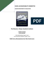 Delaware DOE charter review / Moyer Charter School 8/7/2014