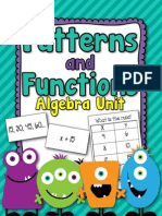 PatternsandFunctionsAlgebraUnitPacket-1