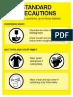 Isolation Precautions Signs 0109