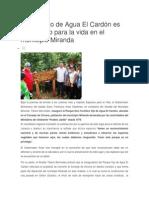 Parque Ojo de Agua El Cardón Es Un Espacio Para La Vida en El Municipio Miranda