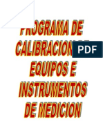(277225596) Programa de Calibracion