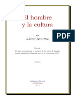 El Hombre y La Cultura