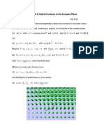 A Note on Integrals and Hybrid Contours in the Complex Plane
