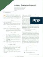 Handheld Calculator Evaluates Integrals - Kahan HPJ 1980-08