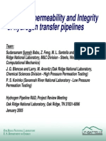 hydrogen permeability and integrity of hydrogen transfer pipelines