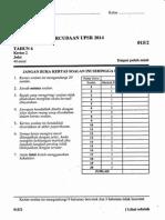 Percubaan UPSR 2014 Matematik Kertas 2 Daerah Raub