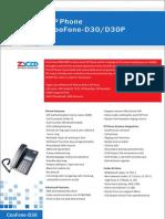 ZYCOO CooFone-D30 IP Phone Datasheet