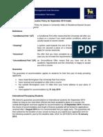 BCU - Accommodation Allocation Policy 2014-15