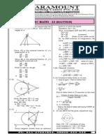 Ssc Mains Mock Test 22 (Maths) _answer Key