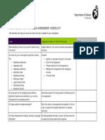 Form First Aid Checklist