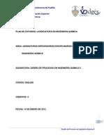 Diseño de Procesos en Ingeniería Quimica II