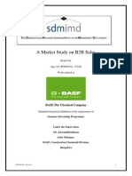 BASF Market Study on B2B Sales-Bangalore