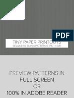 Paper Printouts Patterns