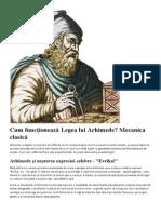 Cum Funcţionează Legea Lui Arhimede