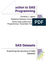 Introduction to SAS Programming