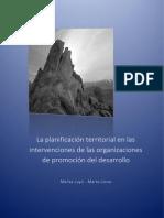 La planificación territorial en las intervenciones de las organizaciones de promoción del desarrollo