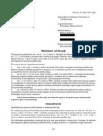 Odwołanie Od Decyzji 17 07 2014a