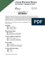 US Census Bureau News - 300 Million