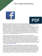Commander Pour efficace  compte Facebook Hacker