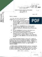 Vannevar Bush Letter to President Truman, July-5-1947