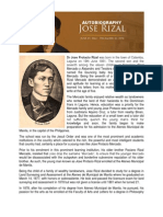 AUTOBIOGRAPHY and Genealogy of Rizal