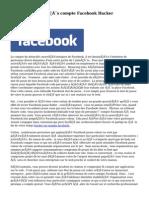 Commander  Succès  compte Facebook Hacker