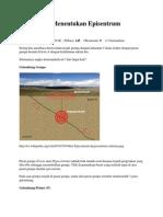 Bagaimana Menentukan Episentrum Gempa