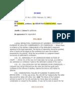 Jose de Ocampo, Petitioner, Vs. Serafina Florenciano, Respondent