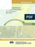 Prospectus Foundation