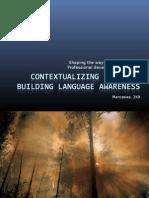 Contextualizing Language - Building language awareness  Modules 2 - 3