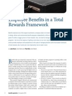 2013 Benefits Quarterly Employee Benefits Total Rewards Framework