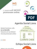 Prezentare Social Lions - Agentie Promovare Online