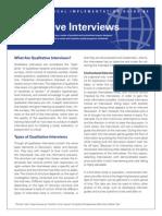 Qualitative Interview Strategies